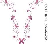 elegant flower shirt embroidery ...   Shutterstock .eps vector #1878711721