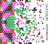 colored colorful triangular... | Shutterstock .eps vector #1878721741