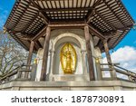 The London Peace Pagoda In The...