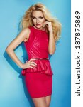 sensual blonde woman posing in...   Shutterstock . vector #187875869
