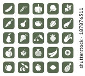 fruit and vegetables icon set | Shutterstock .eps vector #187876511