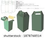 carrier box packaging design... | Shutterstock .eps vector #1878768514