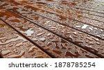 Timber Deck After Rain  Wet...