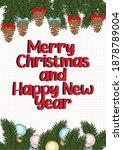merry christmas poster greeting ... | Shutterstock .eps vector #1878789004