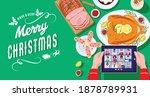 christmas festive dinner  top... | Shutterstock .eps vector #1878789931