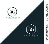 ag initial letter circle brush... | Shutterstock .eps vector #1878790291