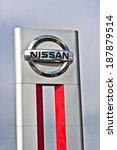 lithuania   april 14 nissan... | Shutterstock . vector #187879514