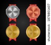 retro golden  silver and bronze ...   Shutterstock .eps vector #1878801607