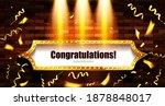 congratulations banner on a... | Shutterstock .eps vector #1878848017