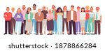 diverse and multicultural group ... | Shutterstock .eps vector #1878866284