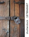 Image Of An Old Padlock On The...