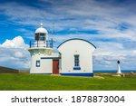 Lighthouse in Harrington Beach State Park. Harrington, New South Wales, Australia.