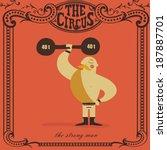 strongman lifting weights | Shutterstock .eps vector #187887701