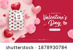 happy valentine day background...   Shutterstock .eps vector #1878930784
