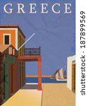 poster of greece. | Shutterstock .eps vector #187899569