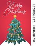 merry christmas poster greeting ... | Shutterstock .eps vector #1879008274