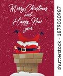 merry christmas poster greeting ... | Shutterstock .eps vector #1879030987