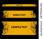 set of grunge banners. eps 10... | Shutterstock .eps vector #1879036144