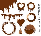 Set Of Chocolate Decorative...
