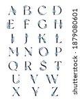 vector alphabet with light blue ...   Shutterstock .eps vector #1879080601