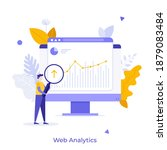 analyst with loupe looking at...   Shutterstock .eps vector #1879083484