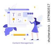 woman organizing digital... | Shutterstock .eps vector #1879083517