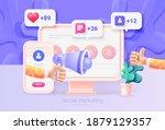 digital social marketing.... | Shutterstock .eps vector #1879129357