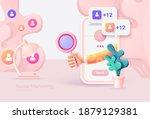 digital social marketing.... | Shutterstock .eps vector #1879129381
