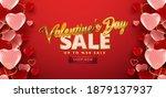 valentine's day sale 50  off...   Shutterstock .eps vector #1879137937