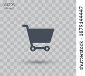 supermarket basket icon. vector ...