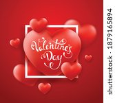 valentines day background with... | Shutterstock .eps vector #1879165894