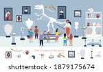 the guide telling children... | Shutterstock .eps vector #1879175674