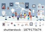the guide telling children... | Shutterstock .eps vector #1879175674