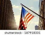 us flag new york city   Shutterstock . vector #187918331