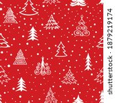 christmas tree snow winter... | Shutterstock .eps vector #1879219174