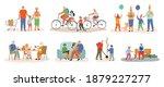 colorful grandparents...   Shutterstock .eps vector #1879227277