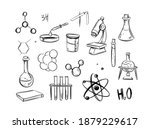 chemistry. chemical objects.... | Shutterstock .eps vector #1879229617