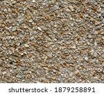 Wall With Crushed Stone Facade. ...