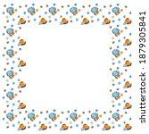 childrens cartoon square frame...   Shutterstock .eps vector #1879305841