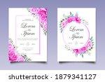 elegant hand drawing wedding... | Shutterstock .eps vector #1879341127