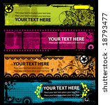 grunge stylish banners with... | Shutterstock .eps vector #18793477