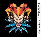 scary clown head vector... | Shutterstock .eps vector #1879353694