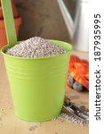 green bucket with a fertilizer... | Shutterstock . vector #187935995