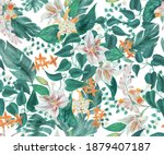 watercolor painting seamless...   Shutterstock . vector #1879407187