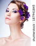 fashion beauty model girl with... | Shutterstock . vector #187941845