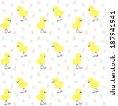 easter pattern with chicken and ... | Shutterstock .eps vector #187941941