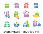 set of gift box icons  such as... | Shutterstock .eps vector #1879429441