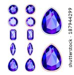 set of five forms of violet... | Shutterstock . vector #187944299
