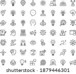 thin outline vector icon set... | Shutterstock .eps vector #1879446301