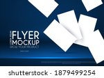 realistic flying business cards ... | Shutterstock .eps vector #1879499254